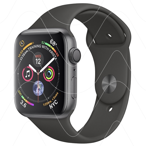 Часы Apple Watch Series 4 GPS 44mm Space Gray Aluminum Case with Black Sport Band