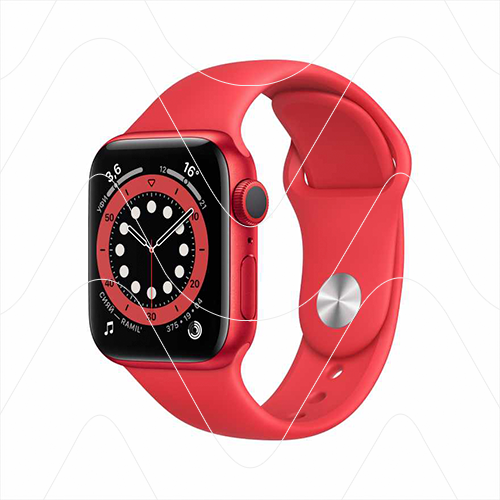 Часы Apple Watch Series 6 44mm Red Aluminum Case with Red Sport Band (РСТ)