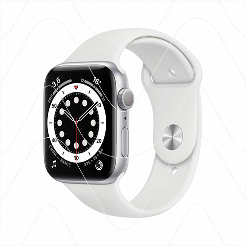 Часы Apple Watch Series 6 40mm Silver Aluminum Case with White Sport Band (РСТ)