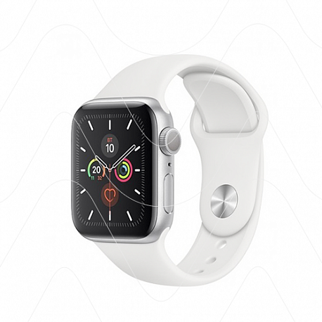 Часы Apple Watch SE 44mm Silver Aluminum Case with White Sport Band (РСТ)