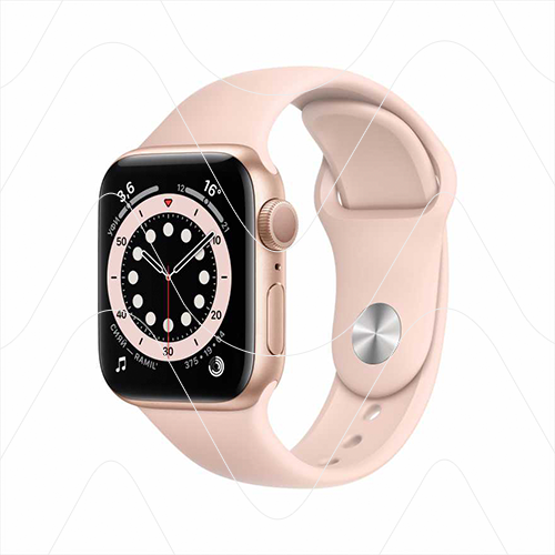 Часы Apple Watch Series 6 44mm Gold Aluminum Case with Pink Sport Band (РСТ)