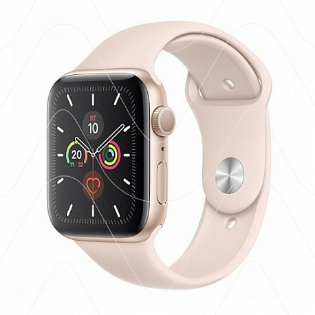 Часы Apple Watch SE 44mm Gold Aluminum Case with Pink Sport Band (РСТ)