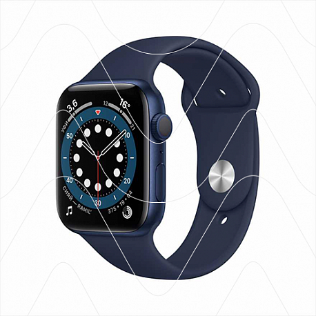 Часы Apple Watch Series 6 44mm Blue Aluminum Case with Blue Sport Band (РСТ)