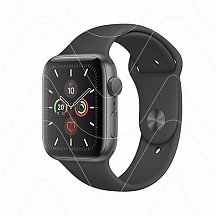 Часы Apple Watch SE 44mm Space Gray Aluminum Case with Black Sport Band (РСТ)
