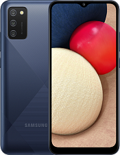 Смартфон Samsung Galaxy A02s 3/32Gb, синий