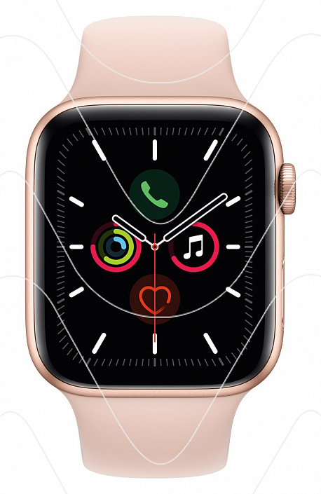 Часы Apple Watch Series 5 44 mm Gold Aluminium Case with Pink Sand Sport Band