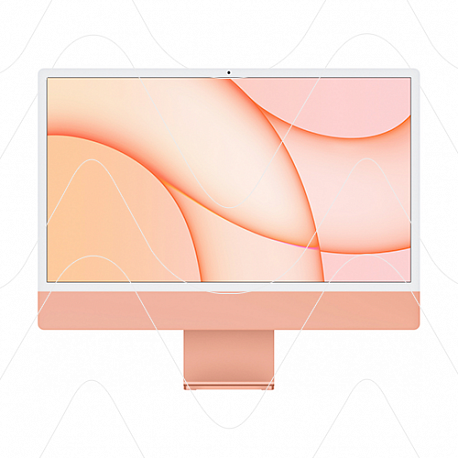 "Apple iMac 24"" Retina 4,5K, (M1 8C CPU, 8C GPU), 8 ГБ, 256 ГБ SSD, оранжевый"
