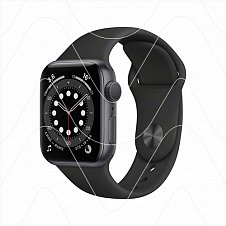 Часы Apple Watch Series 6 44mm Space Gray Aluminum Case with Black Sport Band (РСТ)