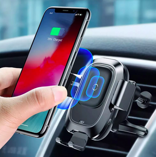 Автомобильный держатель Baseus Smart Vehicle Bracket Wireless Charger WXZN-01