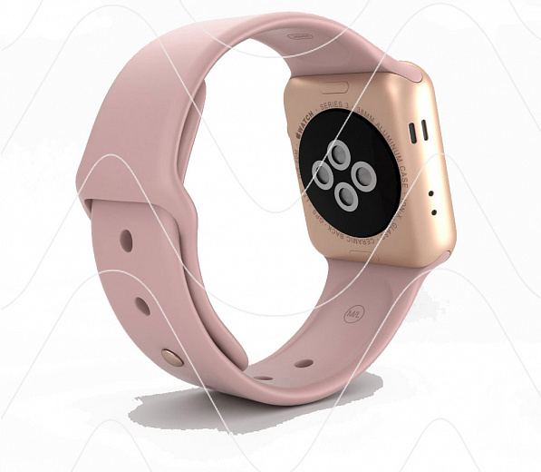Часы Apple Watch Series 5 40 mm Gold Aluminium Case with Pink Sand Sport Band (РСТ)