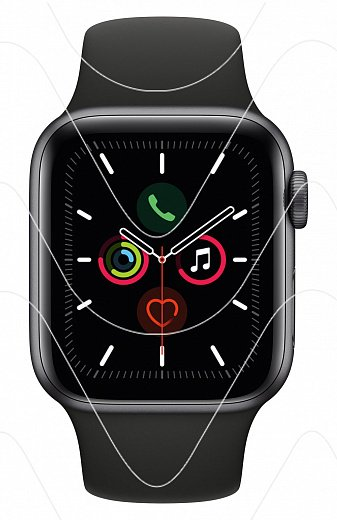 Часы Apple Watch Series 5 40 mm Space Gray Case Aluminium with Black Sport Band