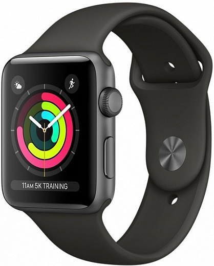 Apple Watch Series 3 38mm Space Gray Aluminum Case with Nike Black Sport Band