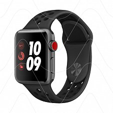 Apple Watch Series 3 Nike+ 42mm Gray Aluminum Case Black Sport Band