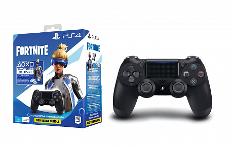 Геймпад для консоли PS4 PlayStation Dualshock v2 Black+Fortnite